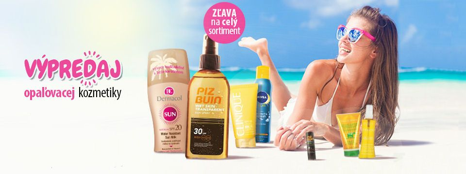 Výpredaj opaľovacej kozmetiky na Elnino.sk