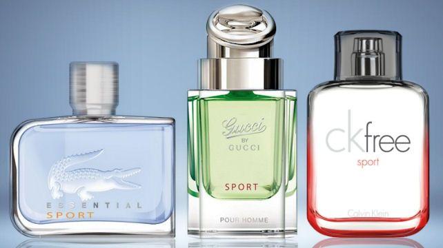 Iné lacné parfumy (zľava): od Lacoste Essential Sport, Gucci by Gucci Sport, Calvin Klein CK Free Sport, všetky na Elnino.sk