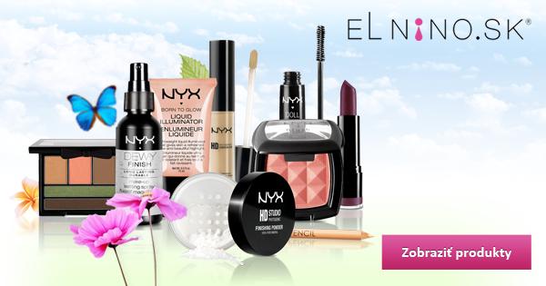 Kozmetika NYX dostupná na Elnino.sk