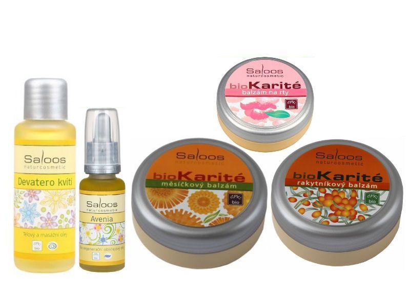 Výbava prírodnej kozmetiky Saloos z e-shopu Elnino.sk