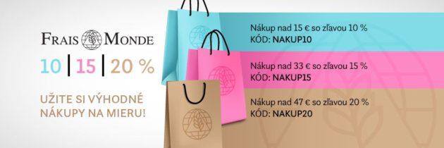 Nákupy kozmetiky Frais Monde si užijete