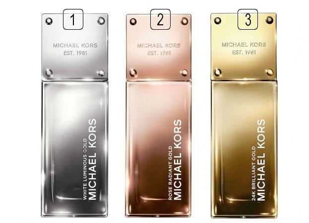 Parfumy Michael Kors inšpirované zlatom: White Luminous Gold, Rose Radiant Gold a 24K Brilliant Gold, všetky v predaji na Elnino.sk