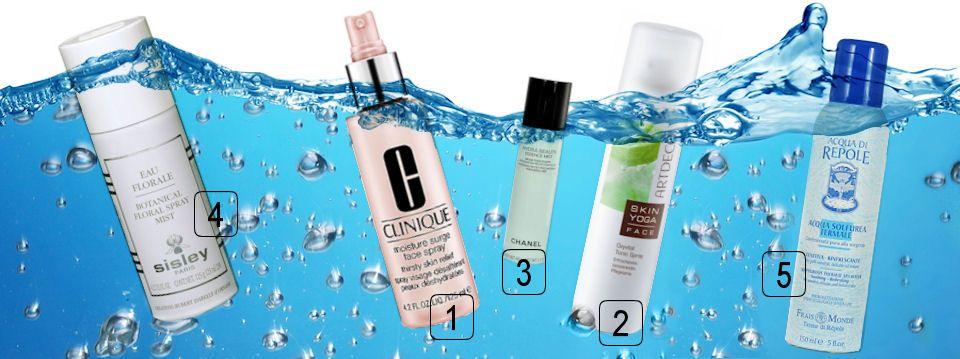 Voda pre Vašu tvár od Sisley, Clinique, Frais Monde, Artdeco a Chanel, všetky produkty nájdete na Elnino.sk