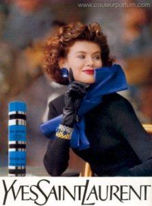Reklama na Yves Saint Laurent Rive Gauche (1988), zdroj: http://bit.ly/1LgFdyR