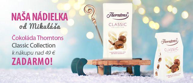 Sladká nádielka od Mikuláša - čokoláda Thorntons Classic Collection