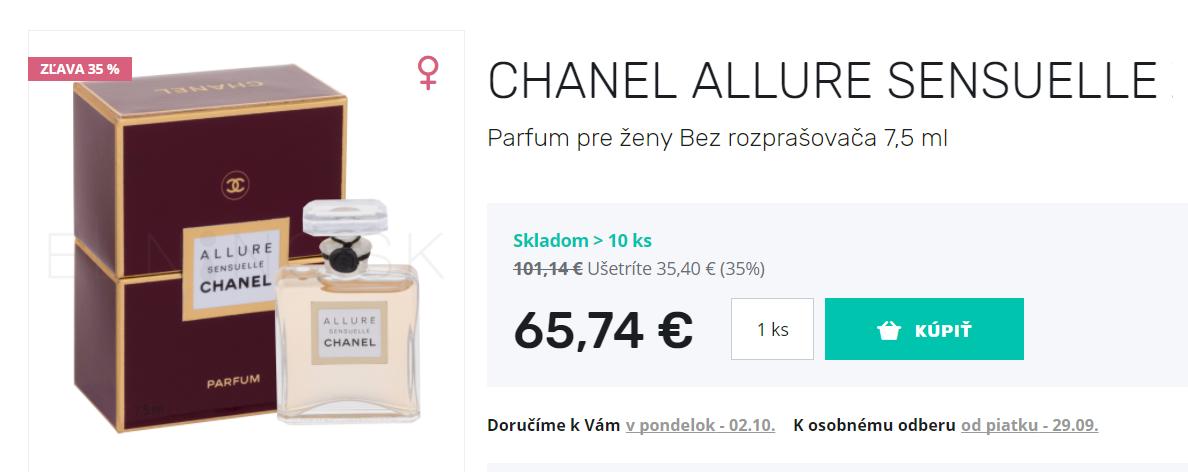 Parfum Chanel Allure Sensuelle vo výpredaji, cena aktuálna k 27. 9. 2017