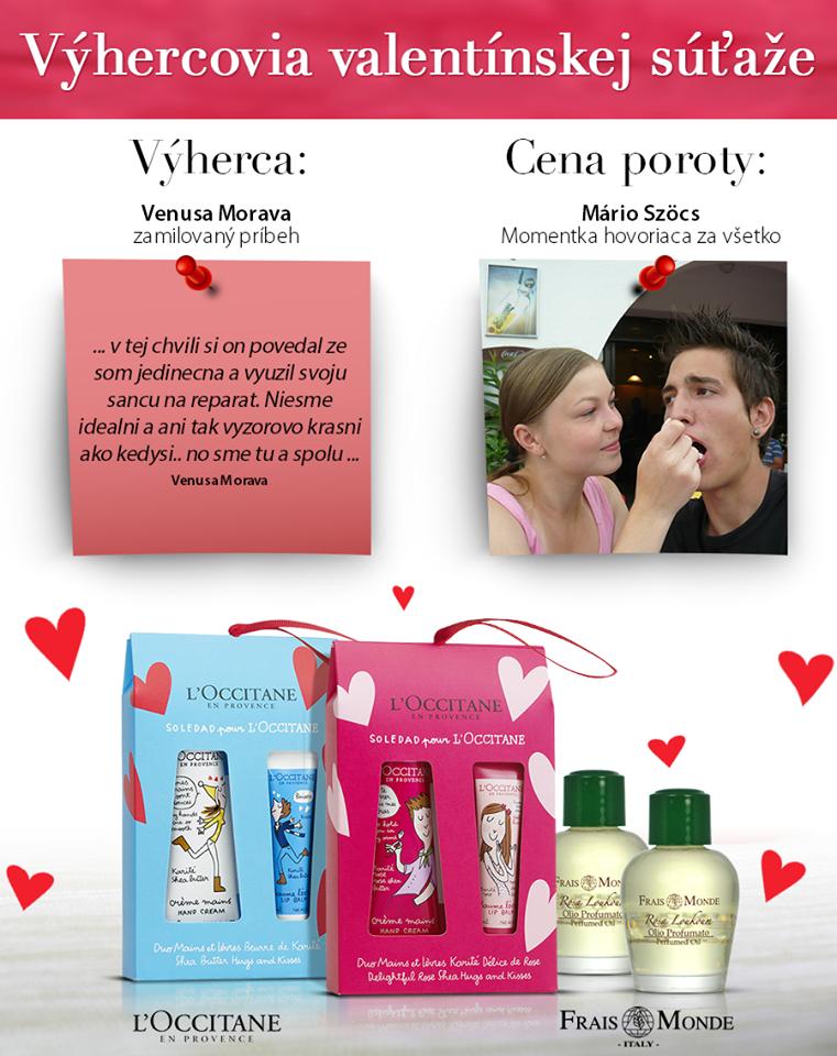 Valentínska súťaž a výhercovia