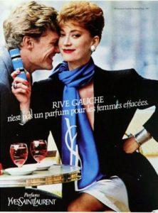 Reklama na Yves Saint Laurent Rive Gauche (1981), zdroj: http://bit.ly/1w0kk7J