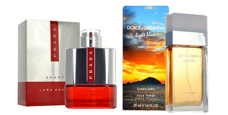 Prada Luna Rossa Sport EdT, Dolce & Gabbana Light Blue Sunset in Salina