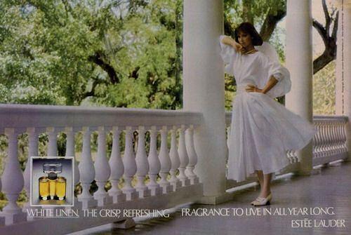 Reklama na Estée Lauder White Linen (1978), zdroj: http://bit.ly/17hal28