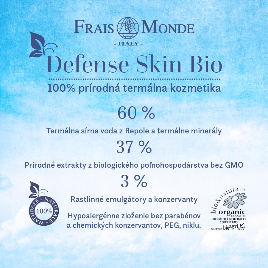 BIO termálna kozmetika Frais Monde Defense Skin a jej obsah