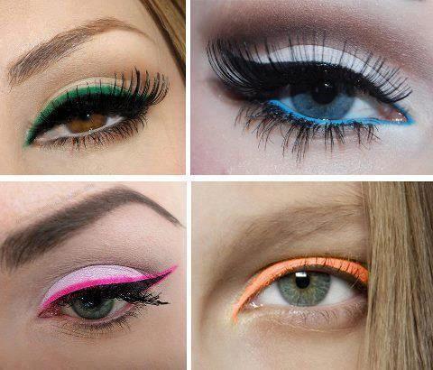 farebná očná linka, Zdroj: Pinterest (https://goo.gl/OOjcko)