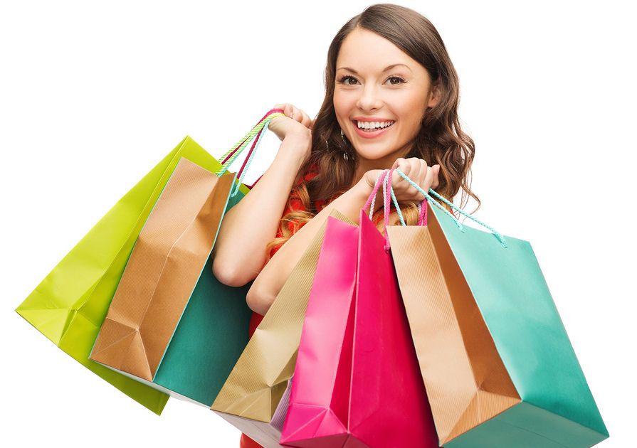 Nákupy kozmetiky so širokým úsmevom