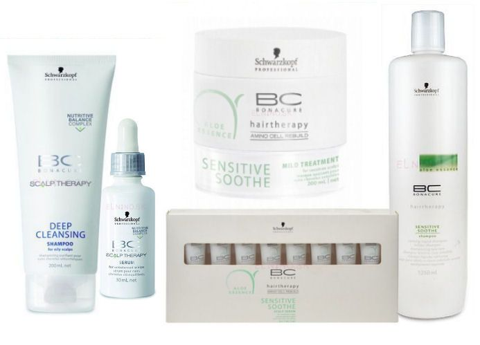 Schwarzkopf BC Bonacure - šampón, sérum, maska, upokojujúce sérum, upokojujúci šampón - starostlivosť o mastné vlasy z ponuky Elnino.sk