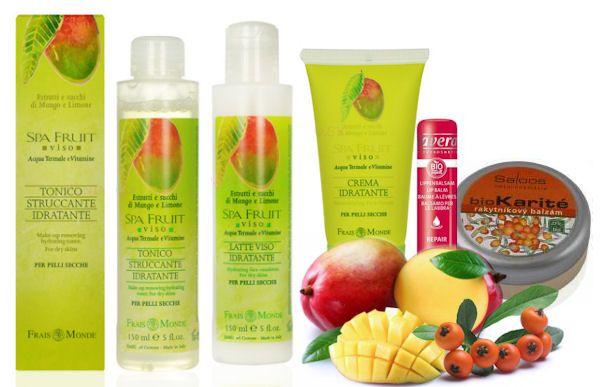 Mango, rakytník ako ovocie pre starostlivosť o suchú pleť