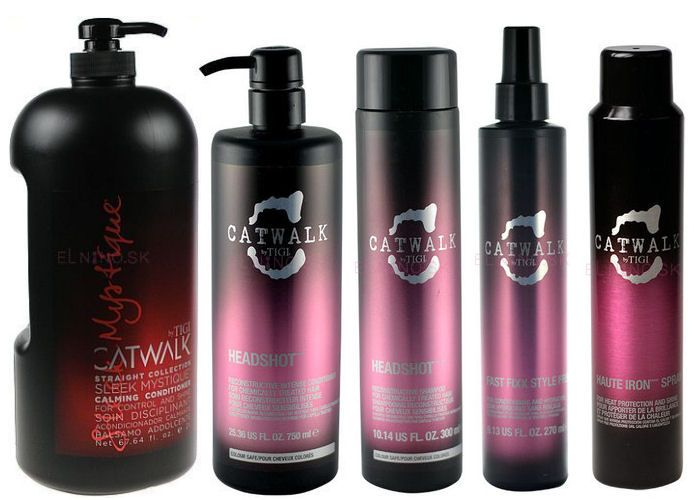 Tigi Catwalk - uhladzujúci kondicionér, kondicionér pre poškodené vlasy, ochranný vlasový sprej, sprej na vyhladenie vlasov a šampón na poškodené vlasy - starostlivosť o jemné a poškodené vlasy dostupná na Elnino.sk