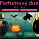 Tajomné parfumy v temnej čiernej