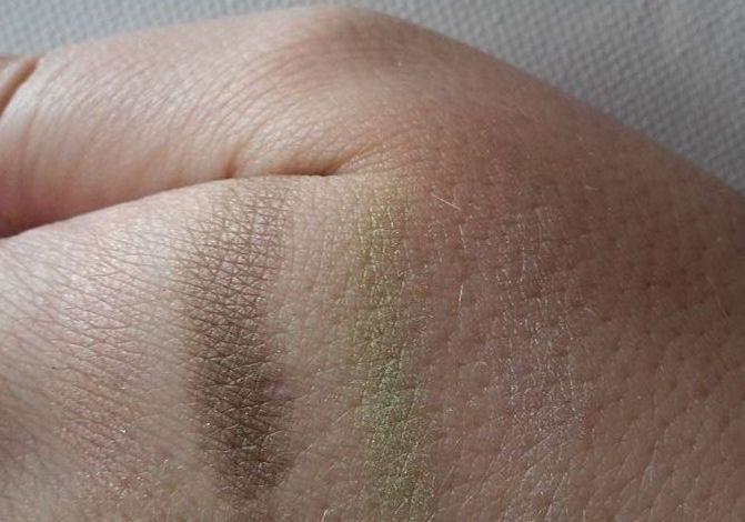 pigmentácia očných tieňov - detailný záber