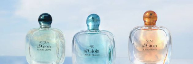 Acqua di Gioia, čerstvý vzduch a žiarivé slnko