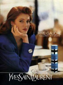 Reklama na Yves Saint Laurent Rive Gauche (1990), zdroj: http://bit.ly/1DuF3Ts