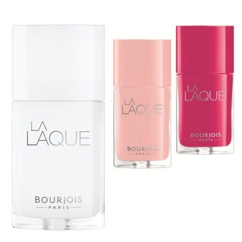 Bourjois Paris La Laque Nail Polish 1 White Spirit, 2 Chair Et Tendre a 6 Fuchsiao Bella