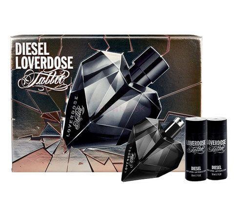 Parfumovaná voda Diesel Loverdose Tattoo Edp 50ml + 2x50ml telové mlieko v sete len v e-shope Elnino.sk