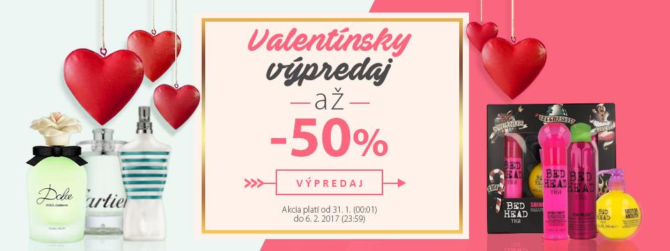 Valentínsky výpredaj so zľavami až 50%