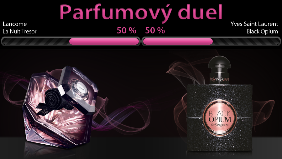 Lancome La Nuit Tresor vs YSL Black Opium, obe vône dostupné v e-shope Elnino.sk
