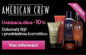 American Crew - uvádzacia zľava
