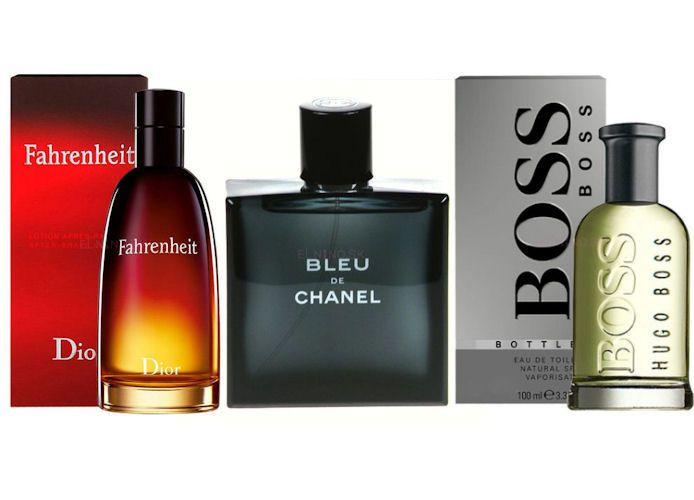 Parfumy s vôňou lesa, stromov, kože, korenia : Christian Dior - Fahrenheit, Hugo Boss - No 6 a Chanel - Bleu de Chanel - všetky u nás na Elnino.sk