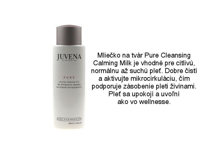 Juvena Pure jemné mlieko na čistenie a upokojenie pleti krásne vyhladí pleť a dostať ho na Elnino.sk