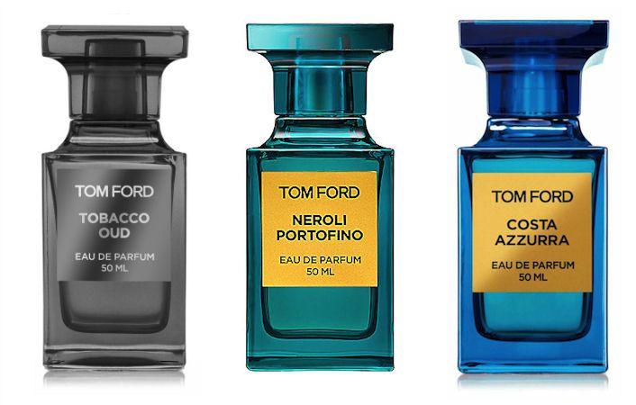 Unisex parfumy Tom Ford: Tobacco Oud, Neroli Portofino a Costa Azzurra, všetky v predaji na Elnino.sk