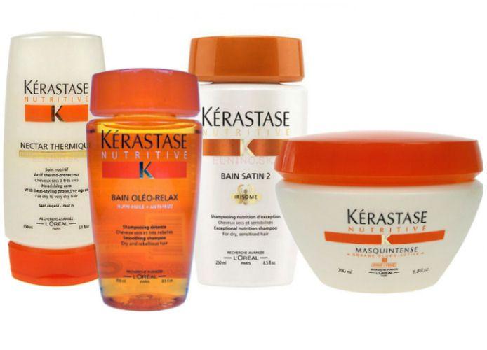 Kérastase Nutritive - ochranný prípravok a šampón pre neposlušné a suché vlasy, výživný šampón, intenzívna maska - starostlivosť pre suché a veľmi suché vlasy z obchodu Elnino.sk