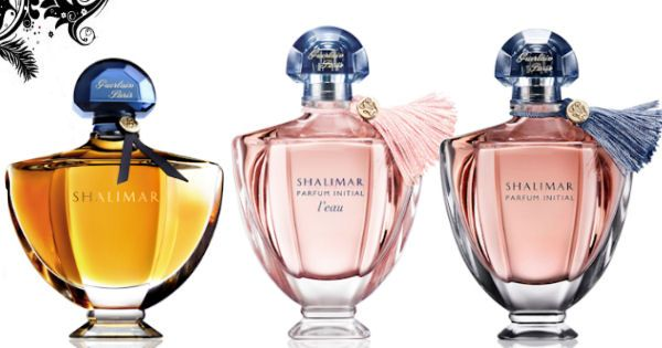 parfumy Guerlain Shalimar -  Guerlain Shalimar EdP, Shalimar Parfum Initial L´Eau EdT, Shalimar Parfum Initial EdP, všetky v ponuke parfumérie Elnino.sk