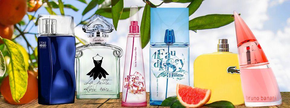 Citrusy - Vaša nová vôňa na leto od značiek Kenzo, Guerlain,, Issey Miyake, Lacoste a Bruno Banani, všetky k zakúpeniu v eshope Elnino.sk