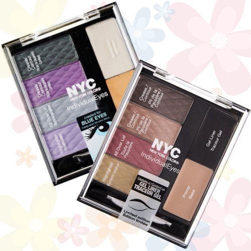 NYC Individual Eyes Custom Palette a farebné tipy pre Vás: 939, 001, obidve paletky a ešte viac na Elnino.sk