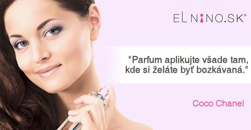Pravdivé fakty alebo dobrá rada Coco Chanel, ako nosiť parfum