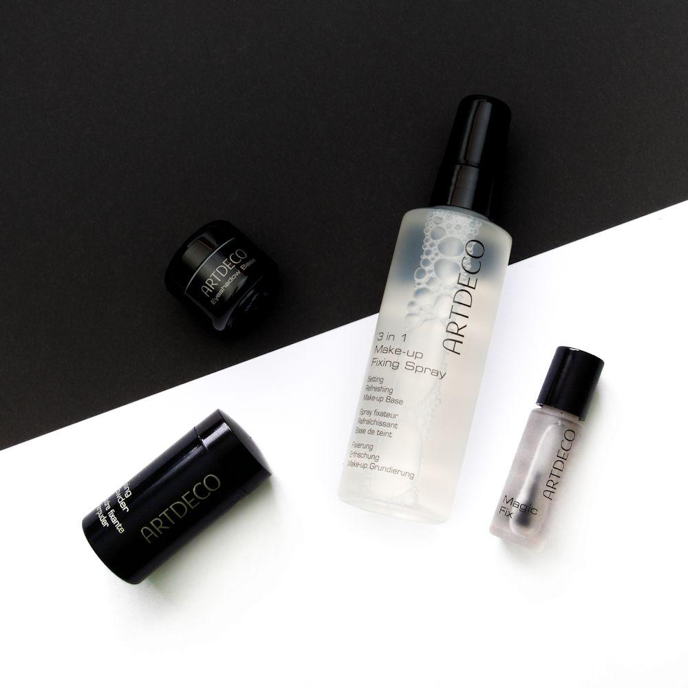 Odolné líčenie s fixáciou od Artdeco: Eyeshadow Base, Fixing Powder, 3 In 1 Make-Up Fixing Spray, Magic Fix Lipstick Sealer