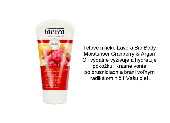 Lavera hydratačné telové mlieko s brusnicami a arganovým olejom nájdete v ponuke Elnino.sk