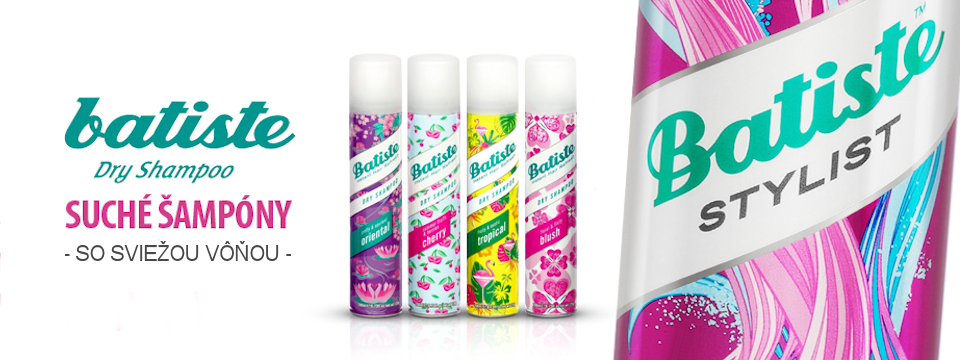 Batiste - suchý šampón a jednotka na trhu
