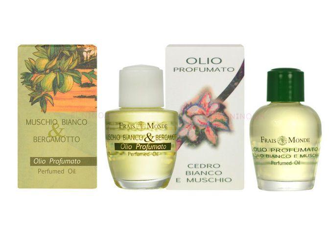 Parfumovaný olej White Musk And Bergamot a White Cedar And Musk z ponuky olejov Frais Monde na Elnino.sk