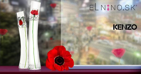 Značkové parfumy Kenzo - na obrázku vône z edície Flower, ktoré má Elnino.sk v ponuke