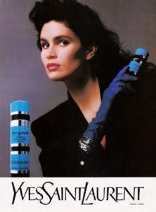 Reklama na Yves Saint Laurent Rive Gauche (1988), zdroj: http://bit.ly/1w0kk7J