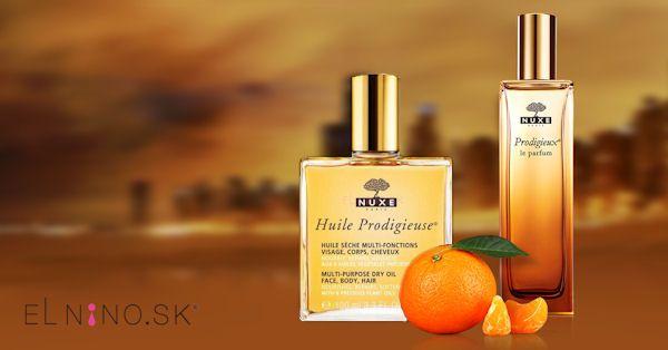 Telové oleje Nuxe a parfum Nuxe Prodigieux Le Parfum