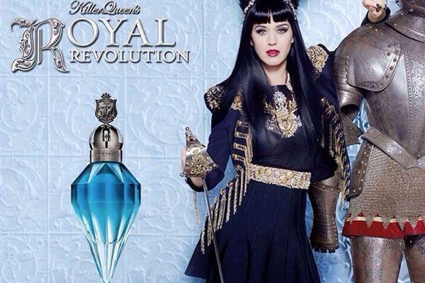 Celebrity a ich parfumy so zlatom v hrdle od Elnino.sk Katy Perry Royal Revolution; Zdroj: http://idola.to/1C9NVcb