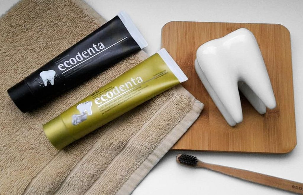 Zubné pasty Ecodenta - bieliaca a melónová