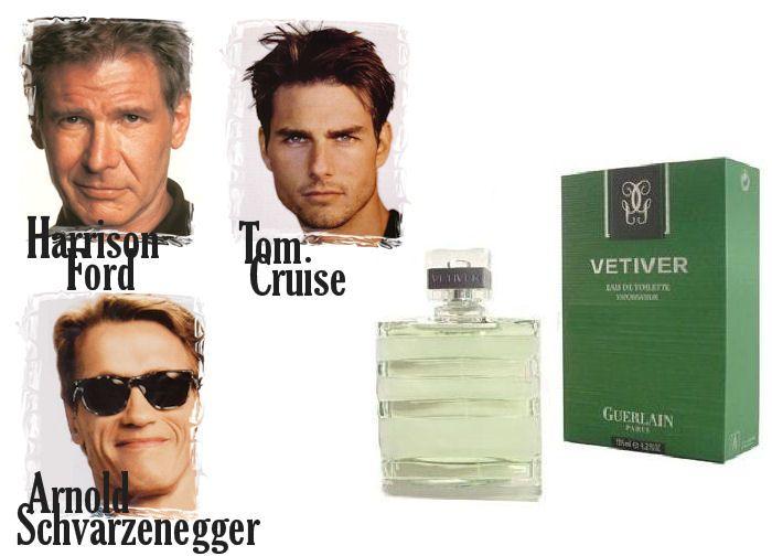 Harrison Ford, Tom Cruise a Arnold Schwarzenegger nedajú dopustiť na parfumy Guerlain, konkrétne vôňu Vetiver, zoženiete ju aj na Elnino.sk