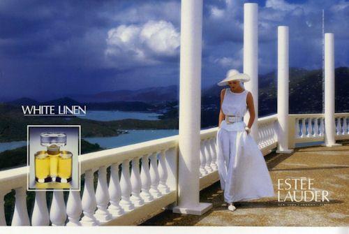 Reklama na Estée Lauder White Linen (1990), zdroj: http://bit.ly/17hal28