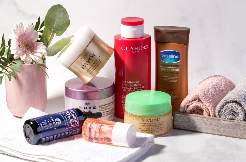 Vaseline, Clarins, Collistar, Renovality, Nuxe, BiOil a iná telová kozmetika