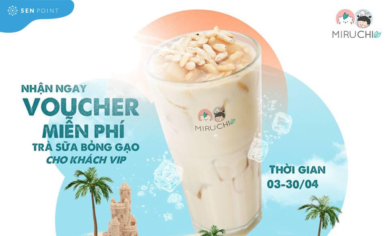 Tặng voucher miễn phí trà sữa bỏng gạo qua SMS